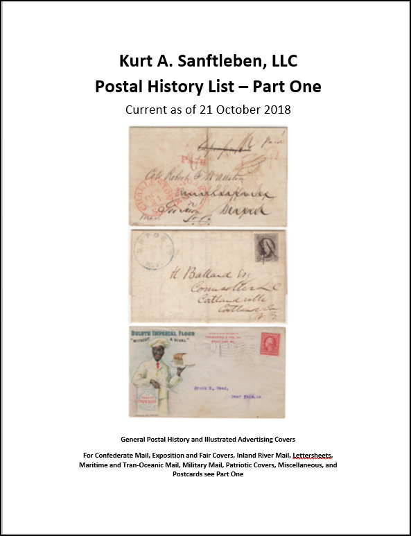 Postal History List - Part One