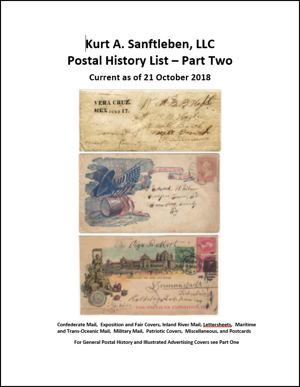 Postal History List - Part Two
