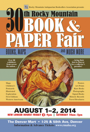 Rocky Mountain Book & Paper Fair, Denver, CO