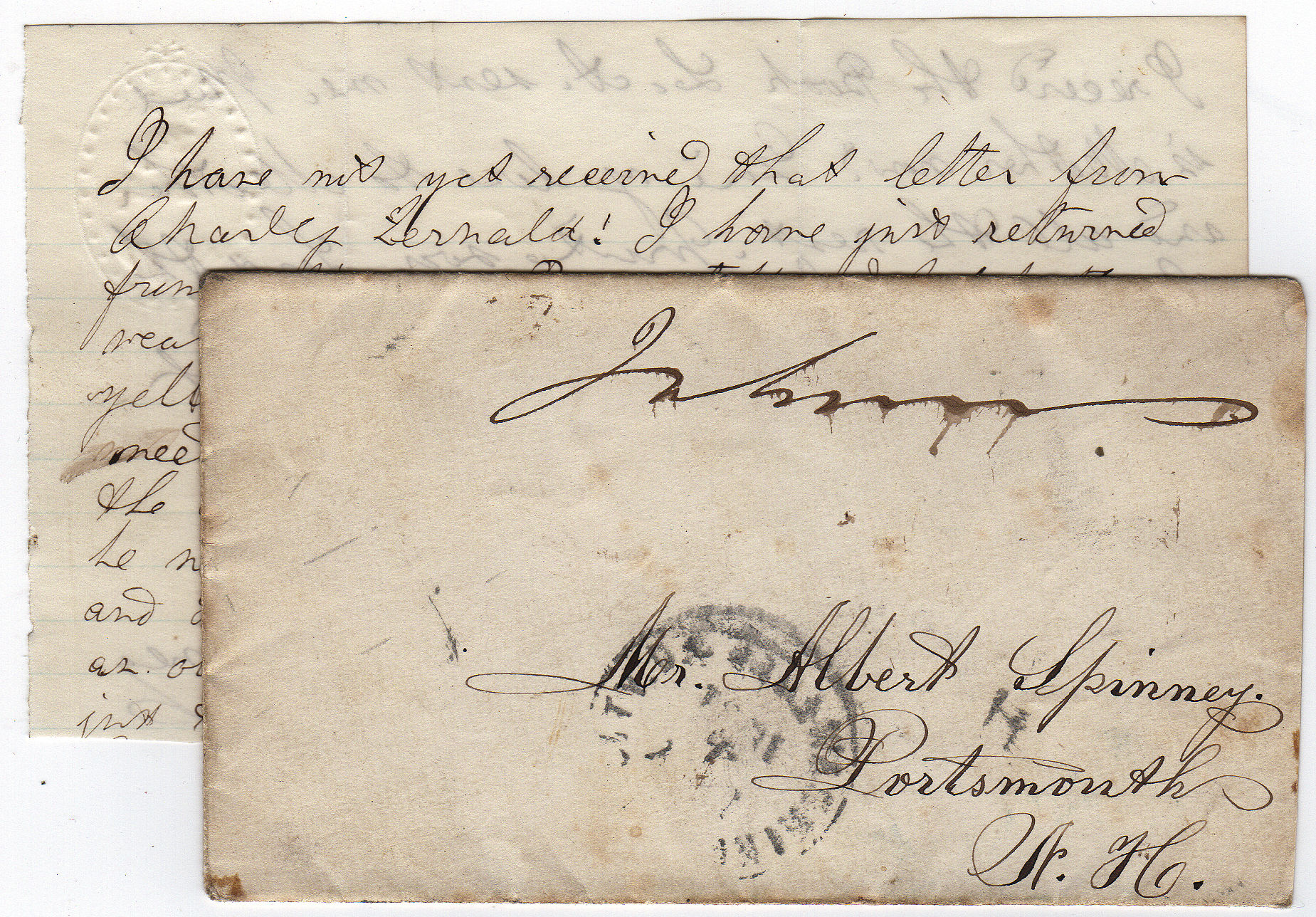 Collection of six Civil War letters from a sol r who served from