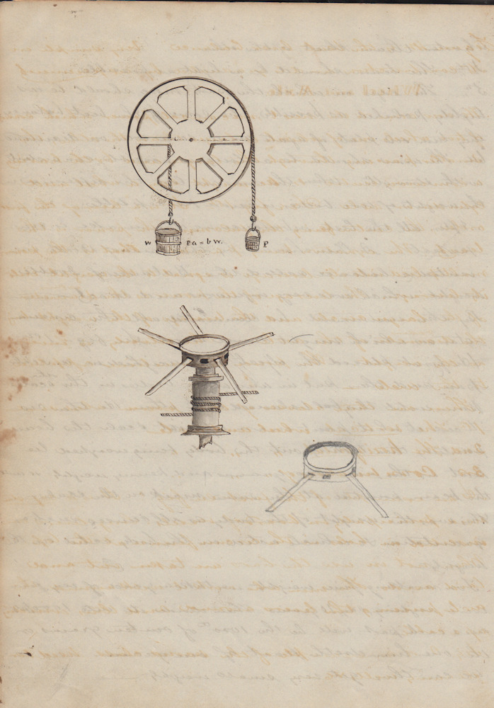 Bound volume of manuscript Natural Philosophy i e  Physics lecture notes  and drawings probably kept by a freshman student at Kansas State  Agricultural