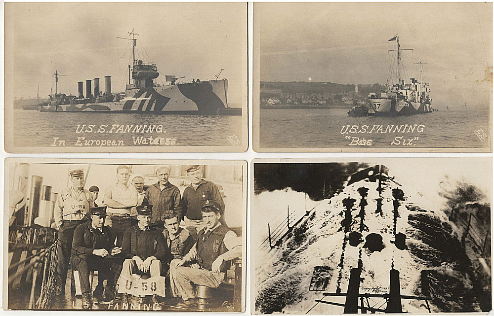 Small archive of material related to the only capture and destruction of a  German U-Boat during World War One by an Allied vessel, the U S S  Fanning