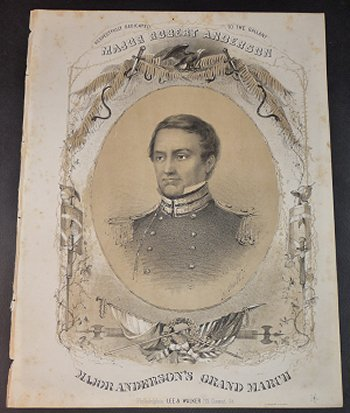 Major Anderson's Grand March [Sheet Music]. Charles Grobe.