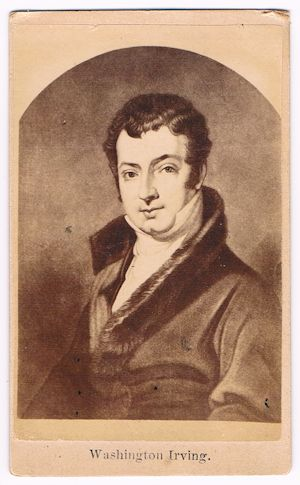 Washington Irving - CDV. CDV.