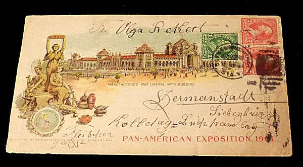 Pan American Exposition Cover. Unlisted.