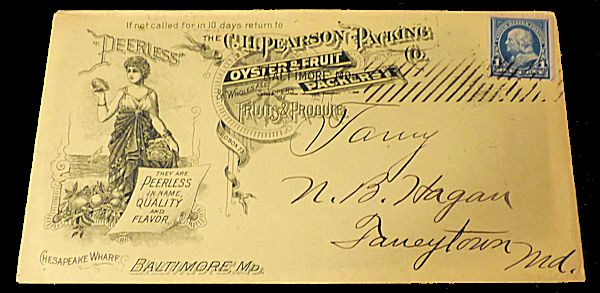 Oyster Packing Company Advertising Envelope. Unlisted.