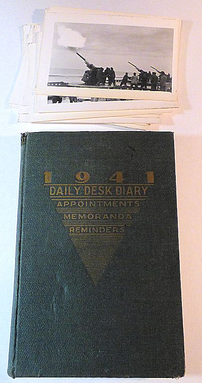 Coastal Artillery Battery Journal with Real Photo Postcards. Lieutenant John Howard.