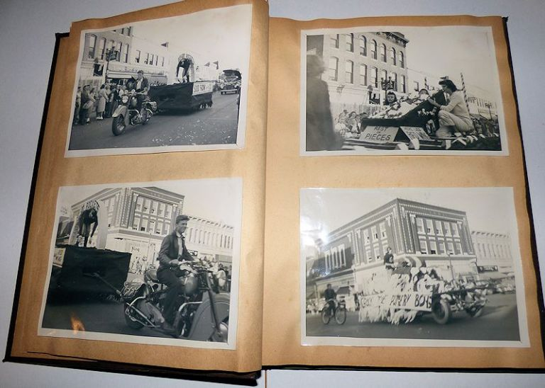 "Rochester (Minnesota) Senior High School ""Atomic Age"" Homecoming Parade Photograph Album. Unknown Compiler."