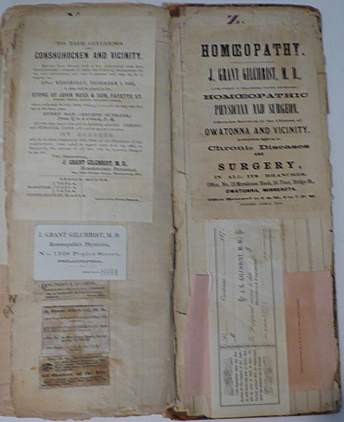 Homoeopathic Physician's Commonplace Scrapbook and Ledger. Dr. James Grant Gilchrist.