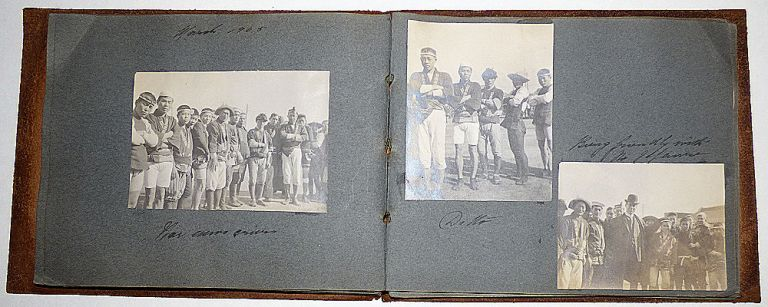Photograph album documenting the travel of a California sugar magnate and his wife. Mrs. Anna Sutro Lowenstein.