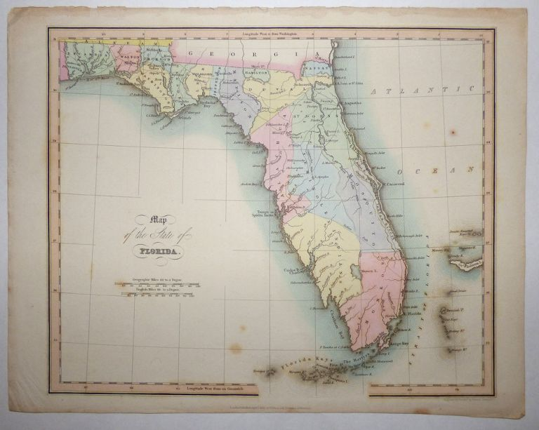 Map of the State of Florida from An Atlas of the United States of