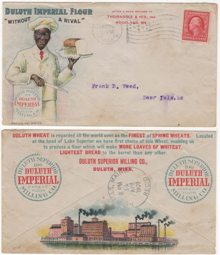 Advertising envelope for Duluth Imperial Flour. Duluth Superior Milling Co.