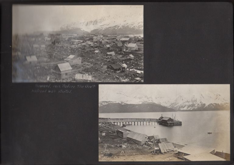 Photograph album documenting the 1913 Alaskan cruise of the U. S. Coastal and Geodetic Service Survey Steamer USC&GS MacArthur. Unidentified compiler.