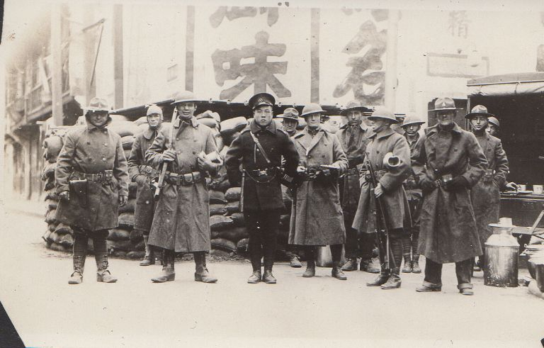 Photograph Album from a member of the 31st Regiment documenting his service protecting the International Settlement during the Shanghai War of 1932 between China and Japan. Unknown compiler.