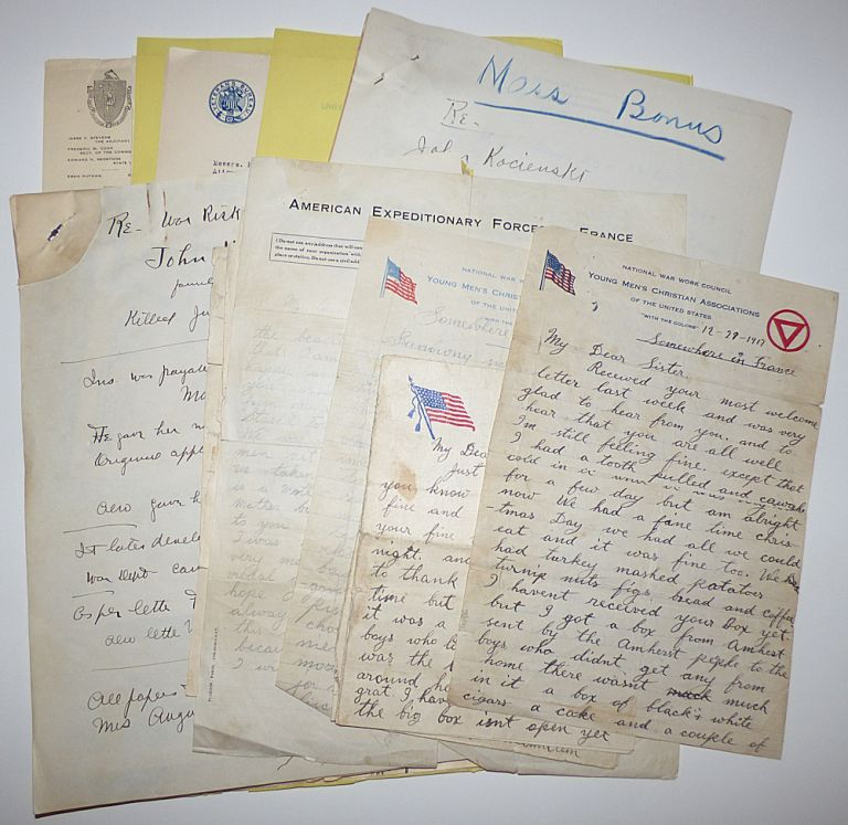 Archive of World War One letters and documents relating to a Polish immigrant's service in the 26th Infantry Division's 104th Infantry Regiment and his death at Belleau Woods on the first day of the Aisne-Marne Offensive. Private John Kocienski.