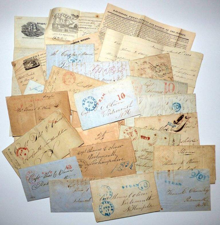 Five-decade archive of letters and documents pertaining to the shipping business of Captain Thomas E. Oliver of Portsmouth-New Castle, New Hampshire. authors.