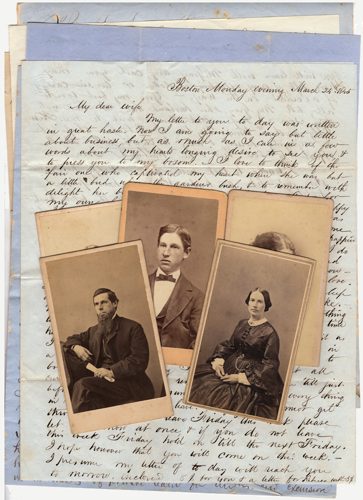 Small archive of family letters and photographs kept by a Stockbridge, Massachusetts woman. Mrs. John Kimball.