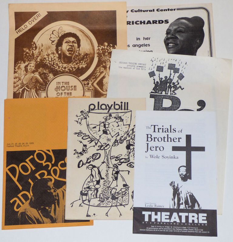 Small collection of programs and advertising flyers from regional African-American theater productions in Illinois. Perhaps, William Warfield.