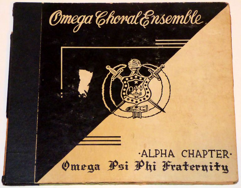 Three-record set of Omega Psi Phi Fraternity Songs. By the Omega Choral Ensemble.