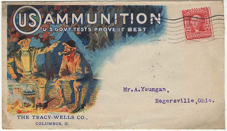 Illustrated advertising cover for the United States Cartridge Company