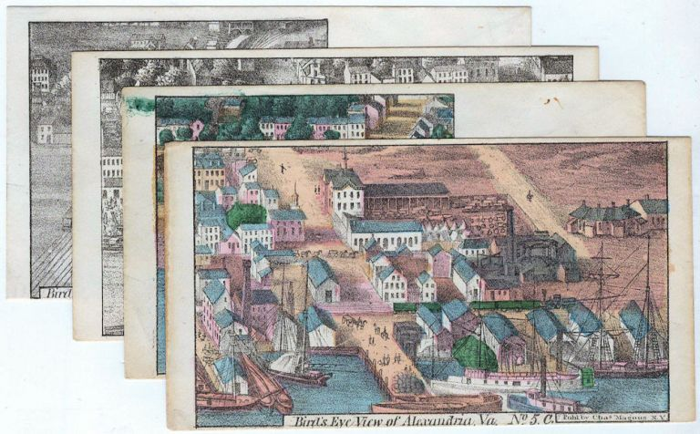 Bird's eye views of Alexandria, Virginia on Union Civil War patriotic envelopes. Charles Magnus.