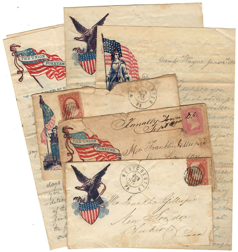 One year of letters home written by soldier in a three-month volunteer unit that defended Washington, DC at the beginning of the war before it reorganized into a three-year unit that fought a number of battles including Antietam, Fredericksburg, and Gettysburg. John E. Gillespie.