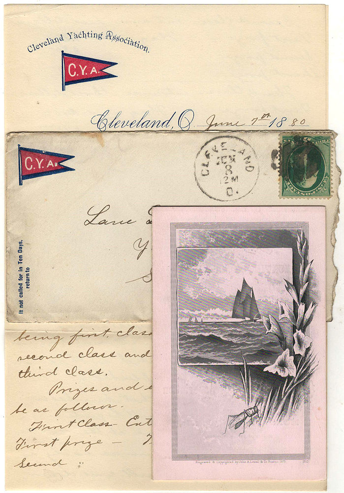 Invitation to participate in the Cleveland Yachting Association 1880 Inter-Lake Regatta. C. B. Krause.