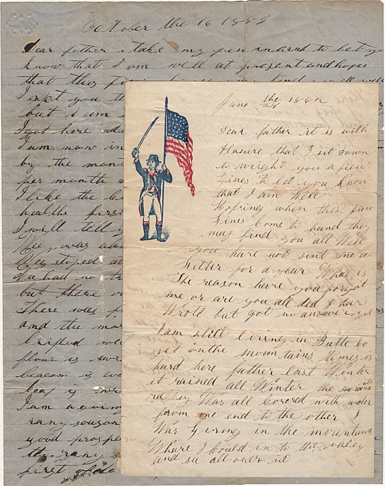 Two letters from a gold seeker whose wagon train was attacked by Mormons and Paiutes shortly after the infamous Mountain Meadow Massacre. John Utlley to his father.