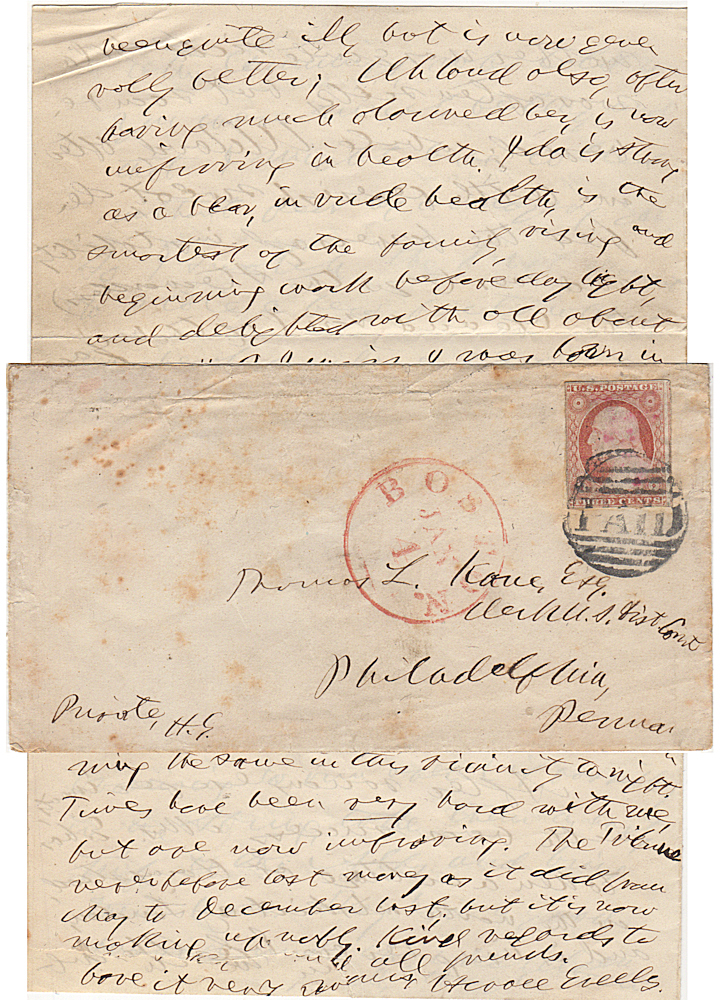 """A signed letter (ALS) from Horace Greeley to the most prominent """"Friend of the Mormons"""" inquiring about his health and relating the latest news of the Greeley family. Horace Greeley to Thomas Kane."""