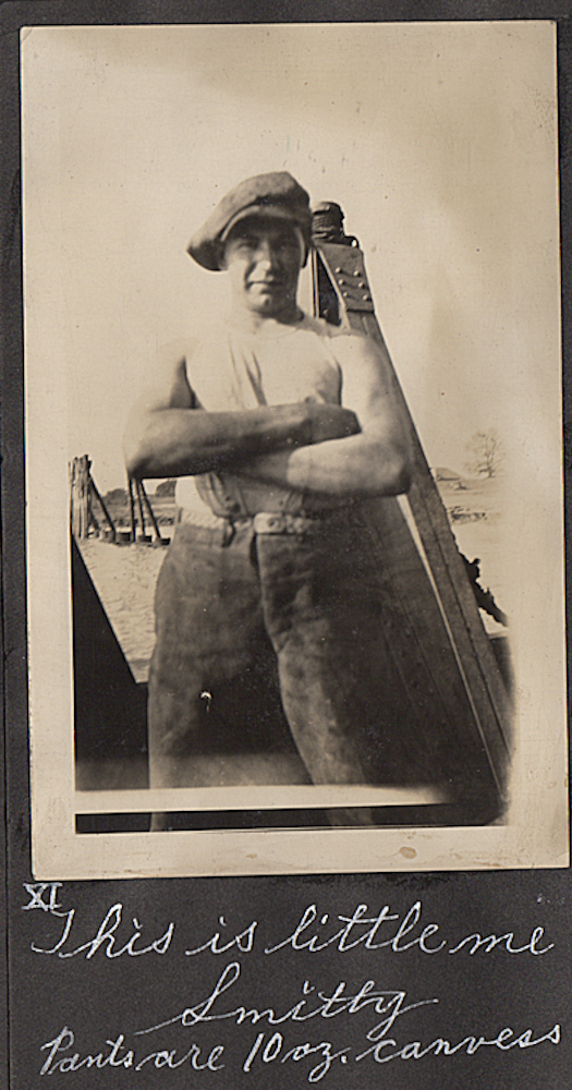Photograph album documenting steamship life upon the Mississippi River during the 1920s. Clarence T. Smith.