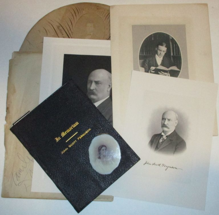 An archive of materials related to a prominent Pennsylvania-Virginia family including a photographic opalotype portrait on 'milk glass' of a young Virginia socialite, Anna Louise Ferguson (later Mrs. William T. C. Rogers. Unidentified photographer.