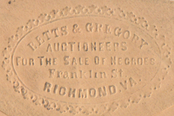 Advertising Envelope for a pair of Richmond slave traders along with a proof copy of a $20 banknote from a slave traders bank they helped found. William H. Betts, E. J. Gregory.