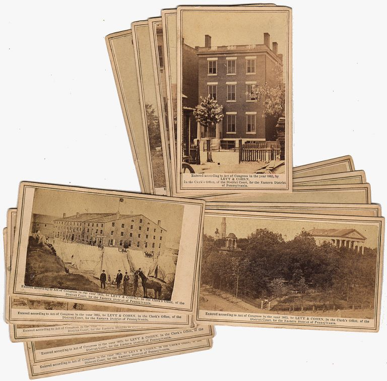 Collection of 15 different rare CDV photographs: Views of the Rebel Capital and its Environs. Cornelius Levy, Leon Solis-Cohen.