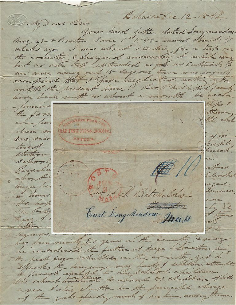 """""""THE GREAT WICKEDNESS & APATHY OF THE HEATHEN MIGHT POSE TOO MUCH FOR YOUR SENSITIVE MIND."""" Letter from a missionary to his brother at home describing his life in India. Otis Robinson Bachelder (Batcheler)"""