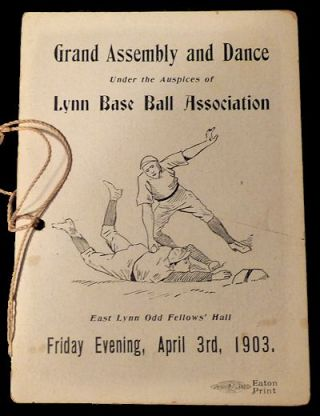 Lynn Base Ball Association Grand Assembly Dance Card. Lynn Base Ball Association