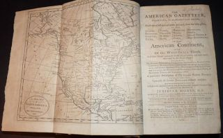 Matching Set of Jedidiah Morse's First Gazetteers: The American Gazetteer . . . Of the American Continent and A New Gazetteer of the Eastern Continent.
