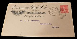 Victor Bicycle Advertising Envelope. Unlisted.