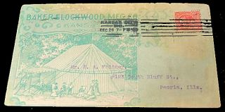 Baker & Lockwood Tent Advertising Envelope. Unlisted