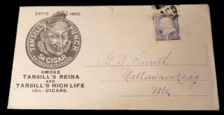Tansill's Punch Cigars Advertising Envelope. Unlisted