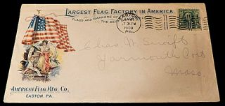 American Flag Manufacturing Company Advertising Envelope. Unlisted