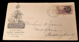 Ragland Tobacco Advertising Envelope. Unlisted