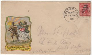 Lewis and Clark Centennial Exposition Advertising Envelope. Unlisted