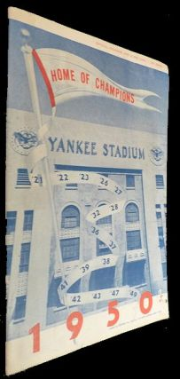 New York Yankees Scorecard - 9 Aug 1950 vs Boston. Unlisted.