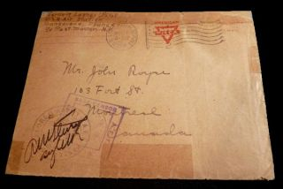 World War One Naval Seaplane Pilot's Letter with Posted Envelope - 24 April 1918