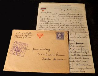 Civilian Mail from the YMCA Headquarters in Paris during World War One. Richard S. Rightes