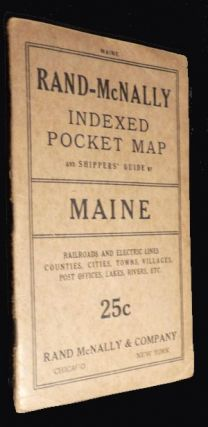 Rand-McNally Indexed Pocket Map and Shippers' Guide of Maine. Anonymous.