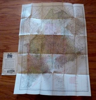 Rand-McNally Indexed Pocket Map and Shippers' Guide of Maine