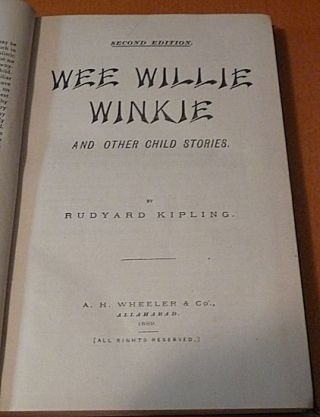 The City of Dreadful Night and Other Places + Wee Willie Winkie + In Black and White (Bound Together)
