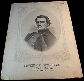 Governor Sprague's Grand March - Sheet Music. E. Mack.