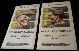 "Ammunition Advertising Score Cards for U.S. Cartridge Co. - ""I Want Some of the Black Shells""..."